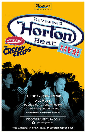 Reverend Horton Heat w. The Creepy Creeps at Discovery Ventura