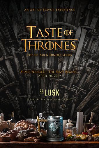SOLD OUT! l Taste of Thrones l Pop-Up Dinner #6