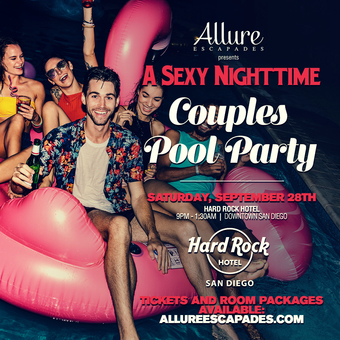 Allure Escapades Sexy Nighttime Couples Lifestyle Pool Party
