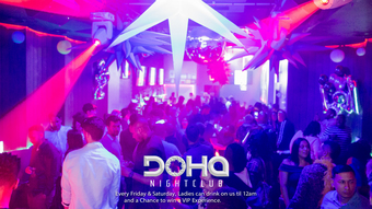 Free Lounge Party w/ Drinks & Entrance at Doha Nightclub
