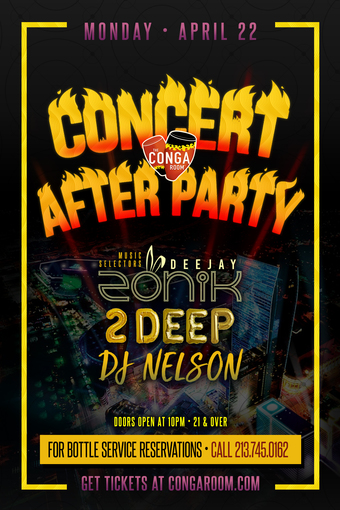 Concert After Party Monday Edition
