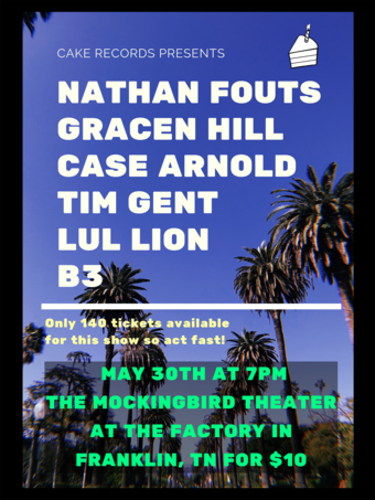 Nathan Fouts, Gracen Hill, Case Arnold, Tim Gent, Lul Lion, B3 the third