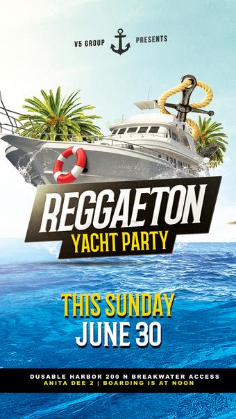 Sunday Funday Reggaeton Yacht Party