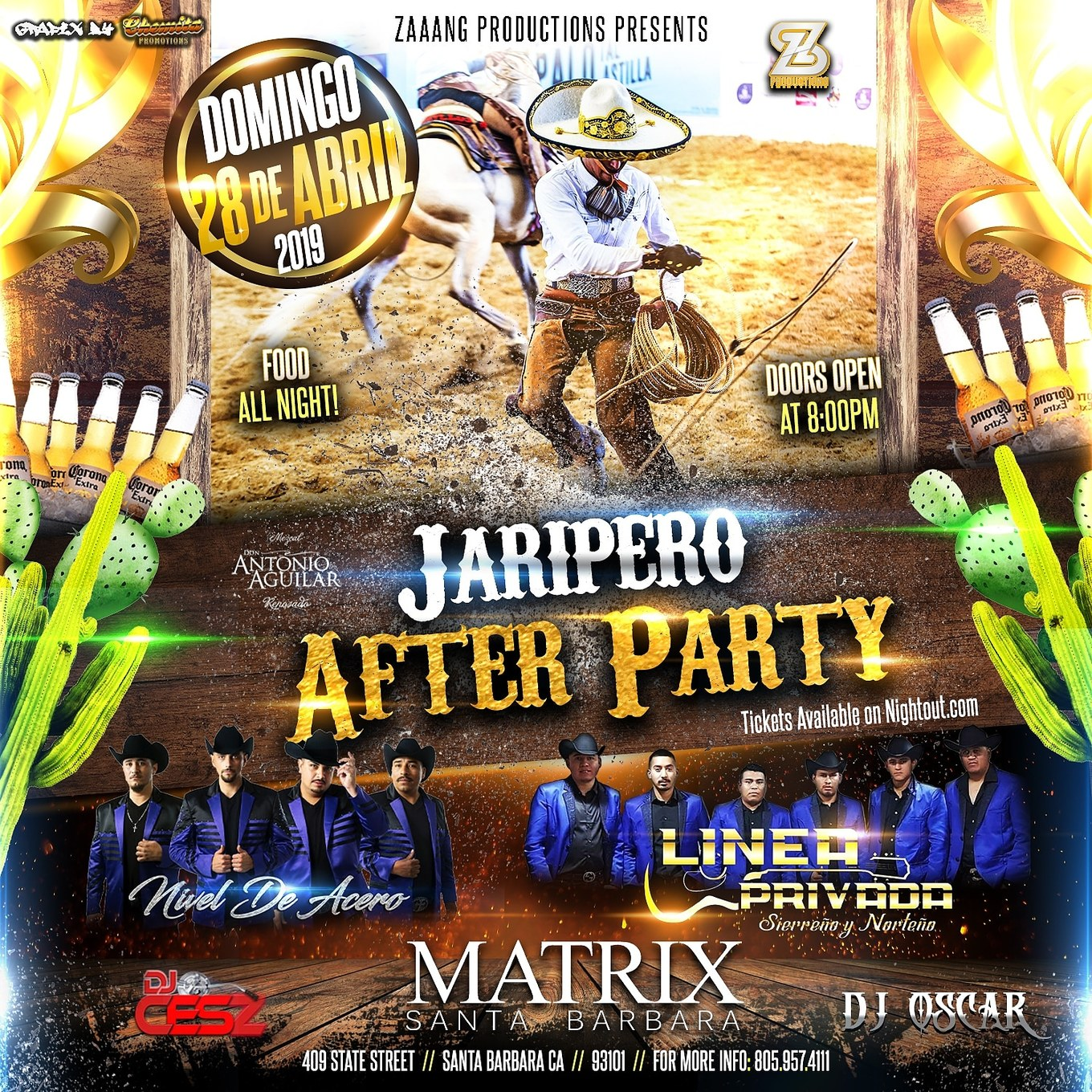 JARIPEO AFTER PARTY AT THE MATRIX APRIL 28 - Tickets