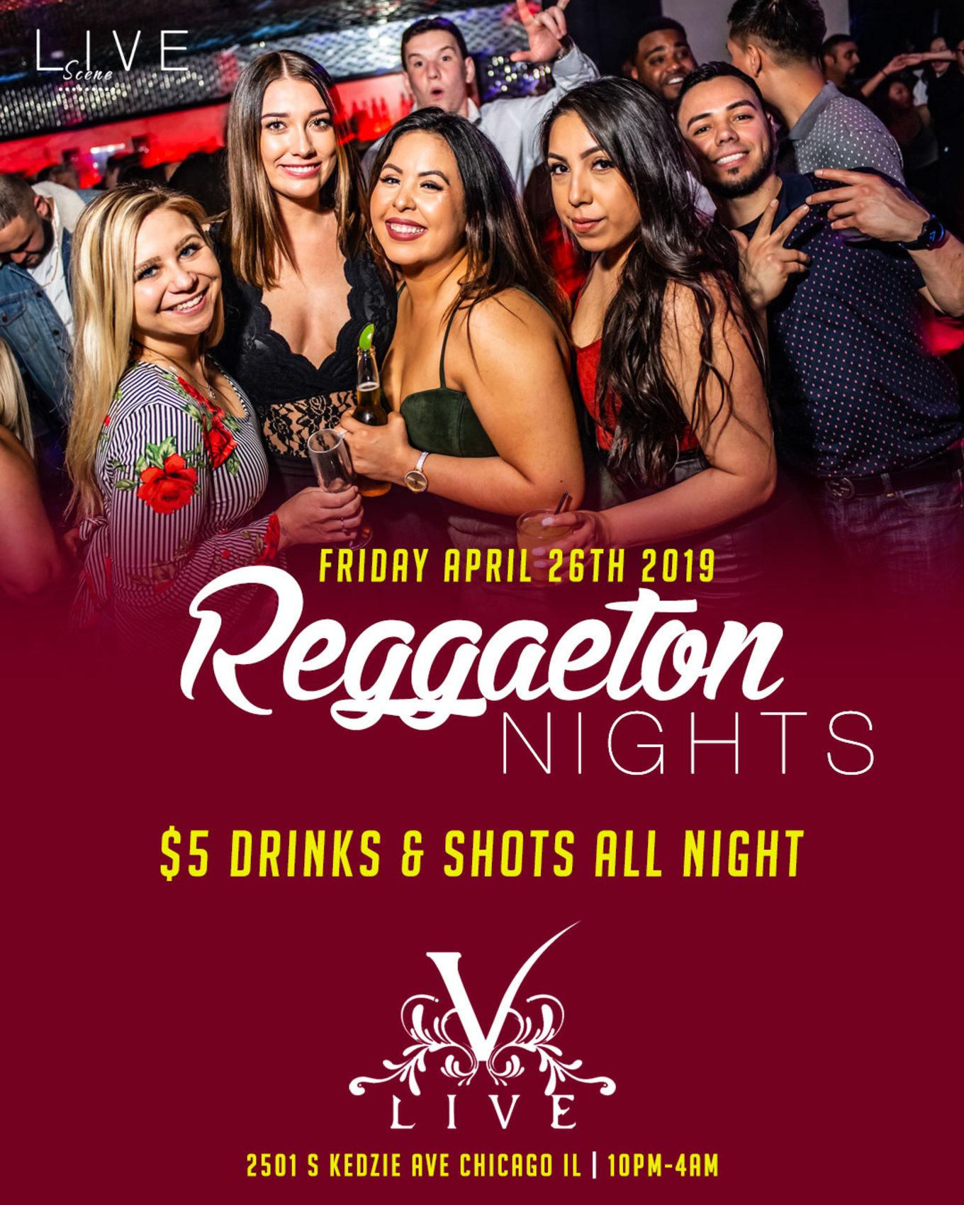 Reggaeton Nights - Tickets - V-Live Chicago, Chicago, IL