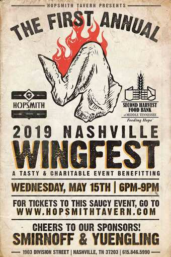 Nashville's Inaugural Wingfest presented by Hopsmith Tavern benefiting The Second Harvest Food Bank of Tennessee