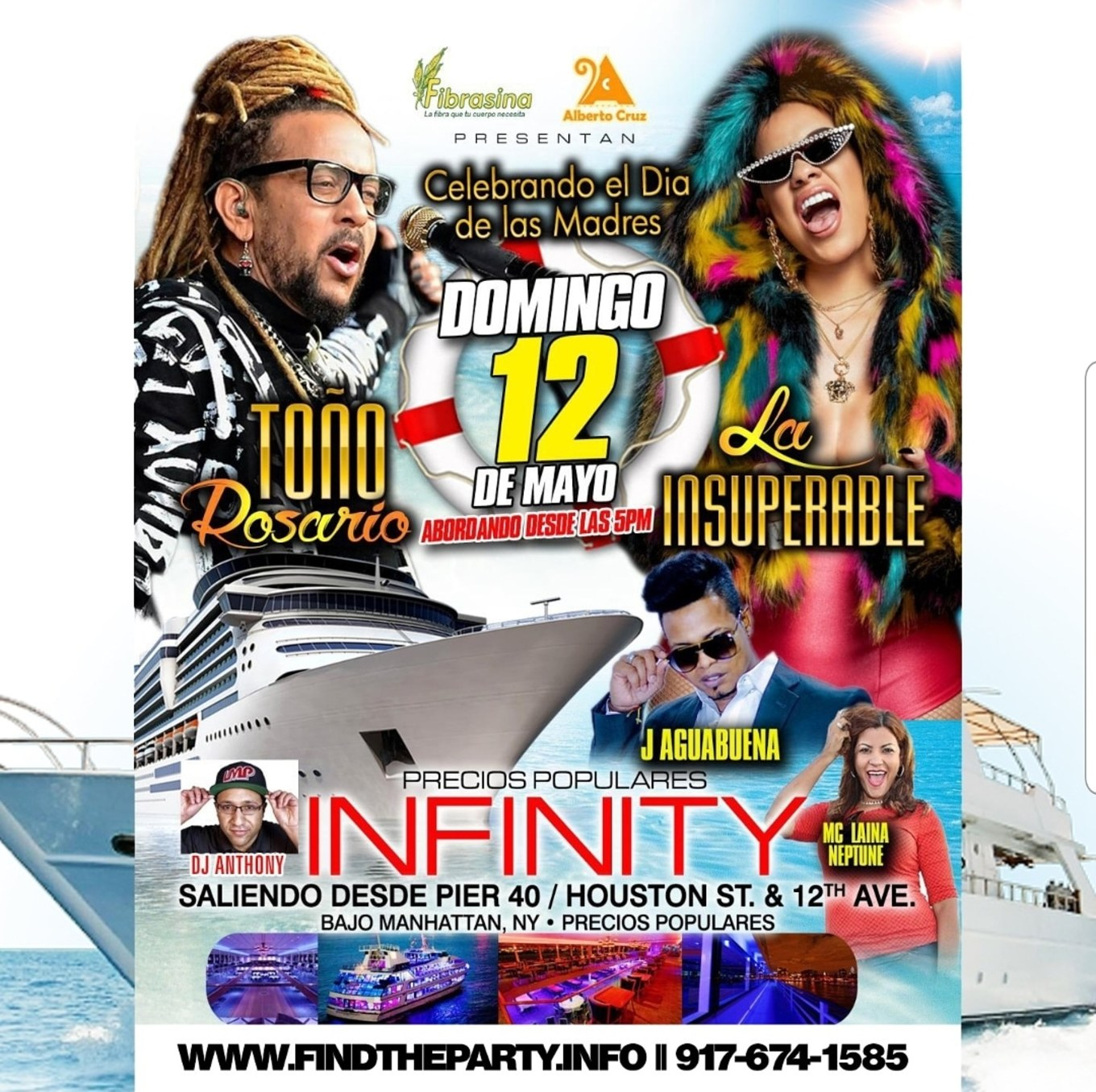 Mother's Day Yacht Party Cruise Tono Rosario & La Insuperable Live At ...