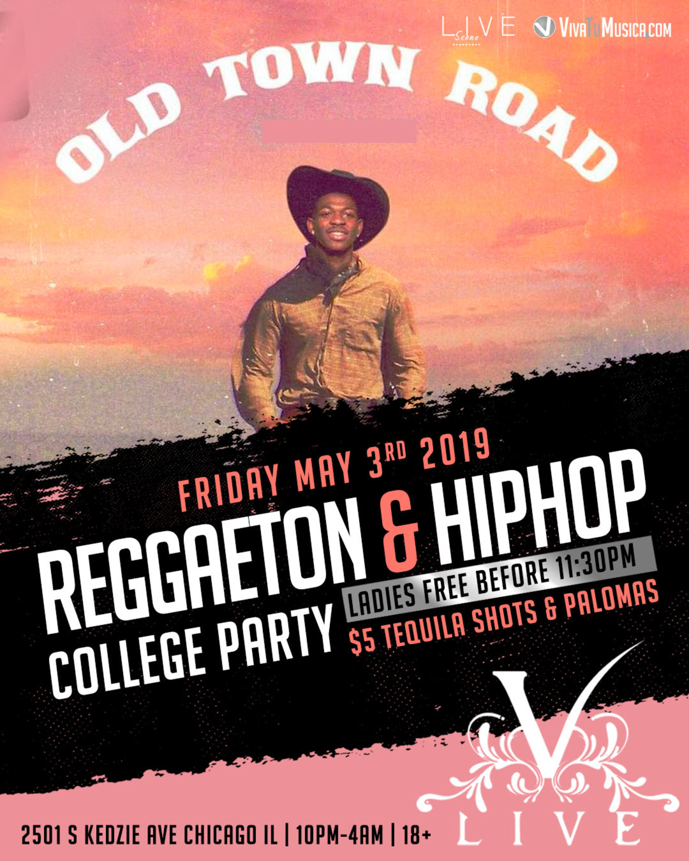 Old Town Road College Party (18+) - Tickets - V-Live Chicago