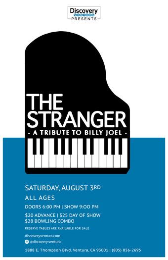 The Stranger - Tribute to Billy Joel featuring Mike Santoro at Discovery Ventura