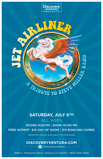 Jet Airliner - Tribute to Steve Miller Band at Discovery Ventura