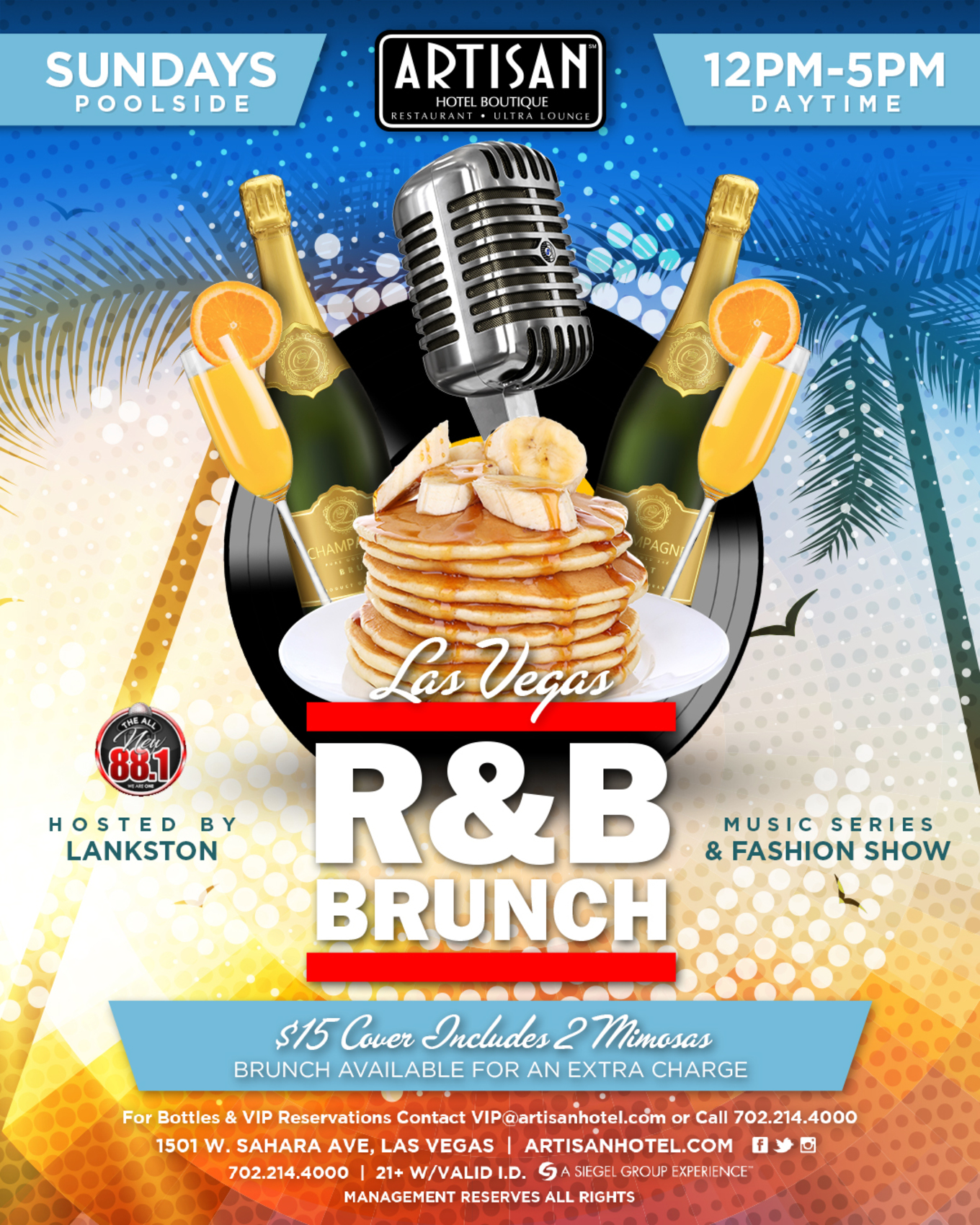 Las Vegas R&B Brunch - Tickets - Artisan Hotel Boutique, Las Vegas