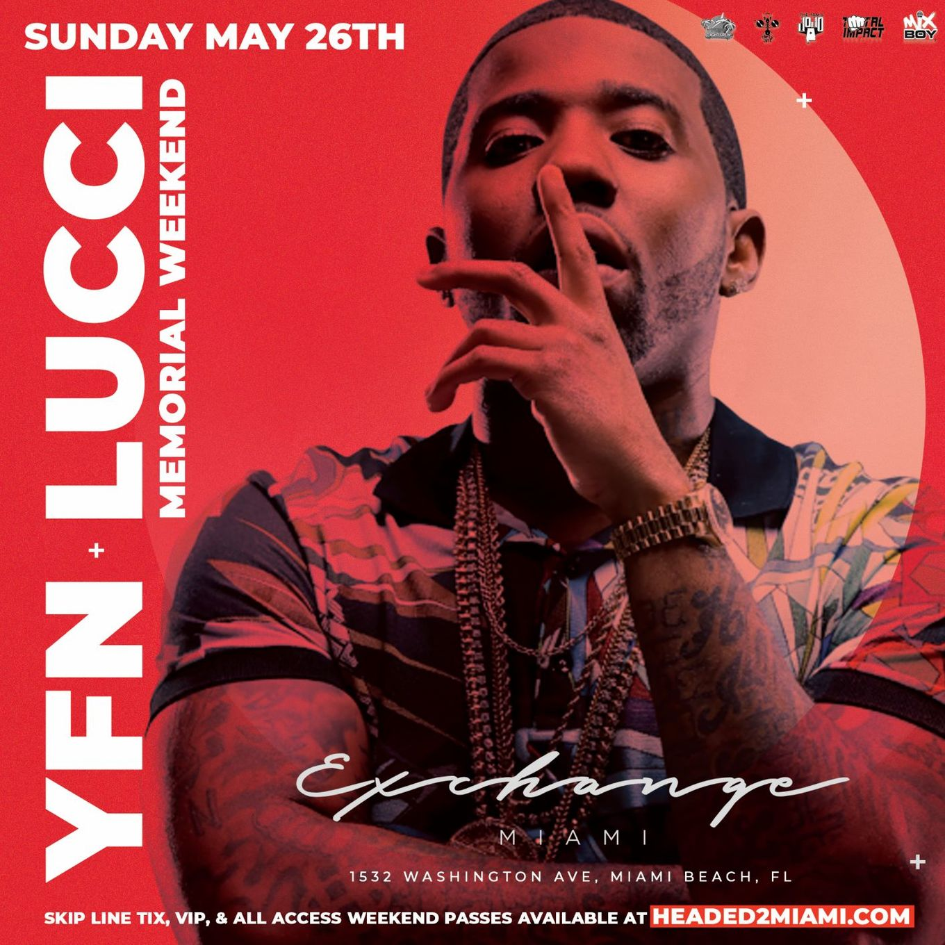 Memorial Day Weekend YFN Lucci Live At Exchange Miami