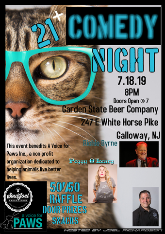 Galloway: Comedy Night to Benefit A Voice For Paws Inc