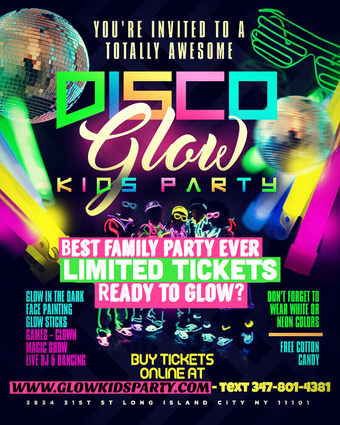 Disco Glow Kids Party