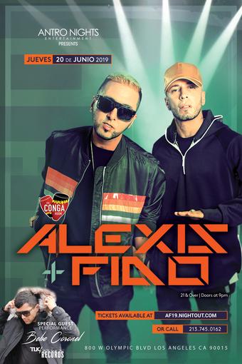Antro Nights presents Alexis y Fido
