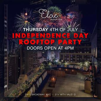 July 4th Day Celebration @ Elsie Rooftop!