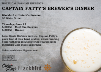 Captain Fatty's Brewer's Dinner at Hotel Californian