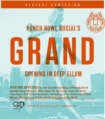 Punch Bowl Social Deep Ellum Grand Opening