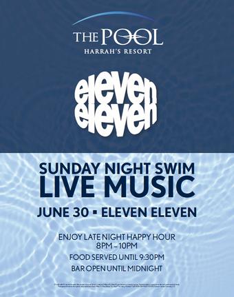 Sunday Night Swim with Eleven Eleven