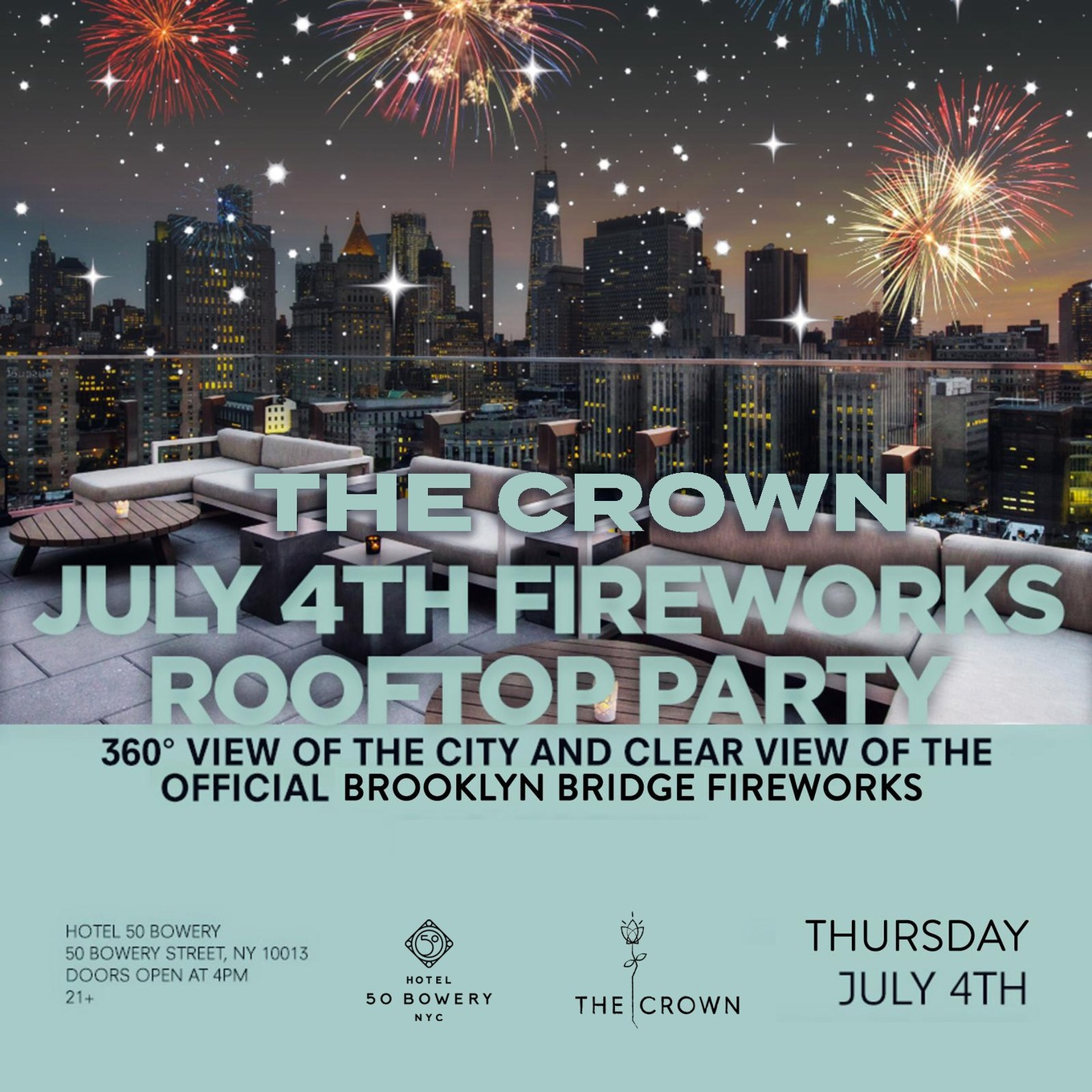 4th of July at the Crown Rooftop - Tickets - The Crown Rooftop, New