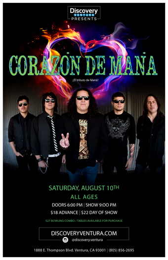 Corazon De Mana - Tribute to Mana at Discovery Ventura