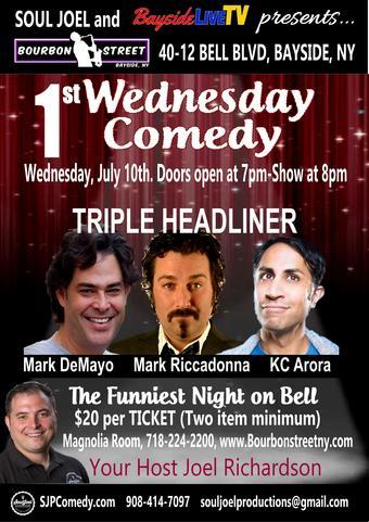 Bayside:  Triple Headliner Comedy Show