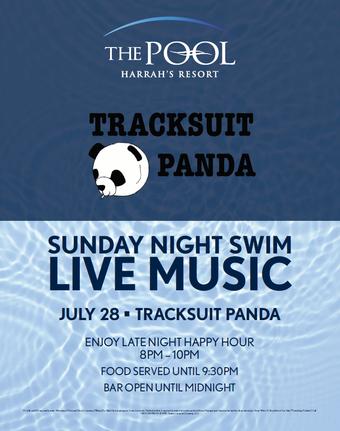 Sunday Night Swim with Tracksuit Panda