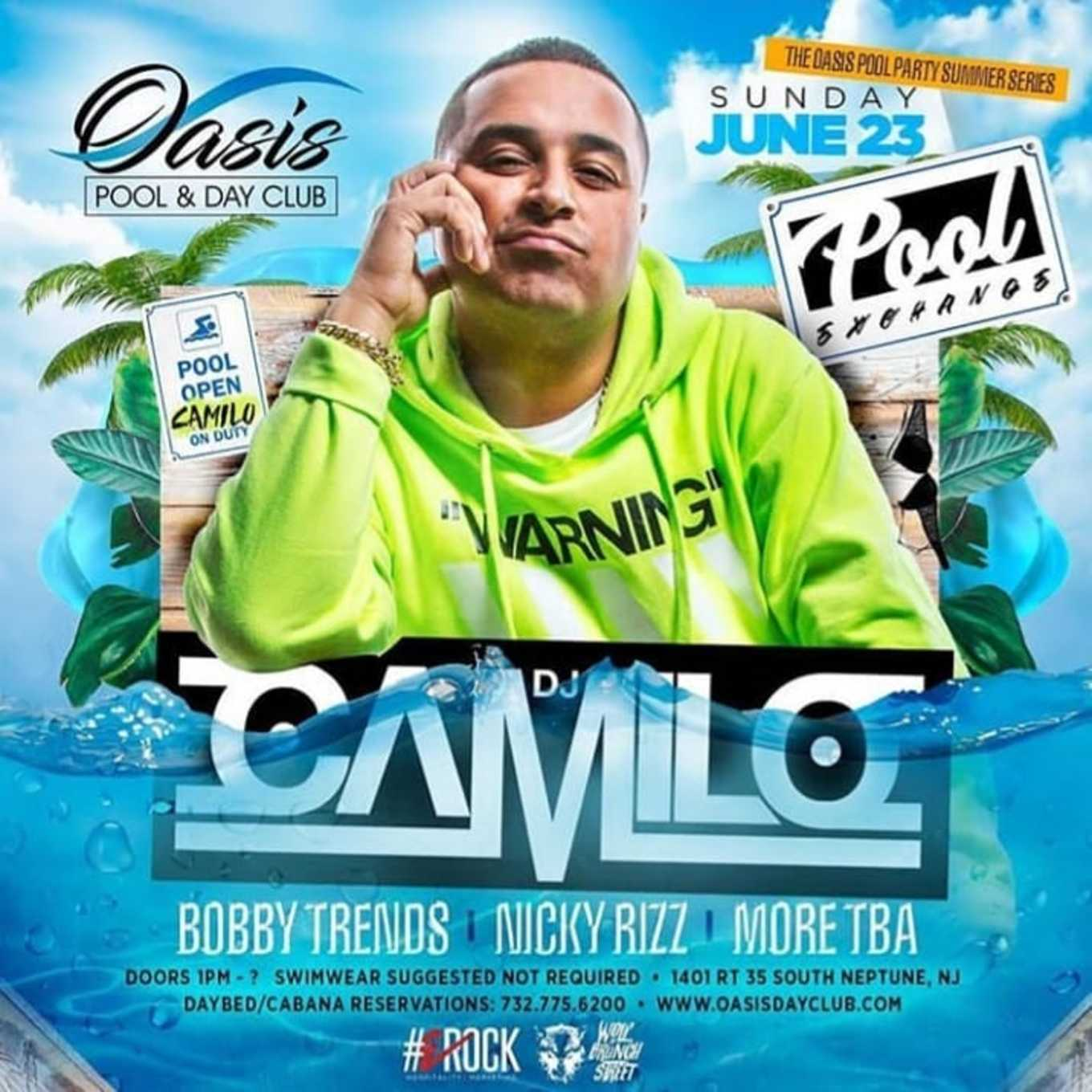 Pool Exchange DJ Camilo Live With DJ Bobby Trends At Oasis Pool
