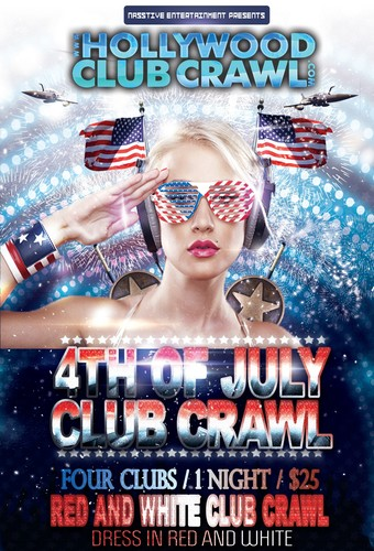 Pre-4th of July RED & WHITE CLUB CRAWL - Wed, July 3rd