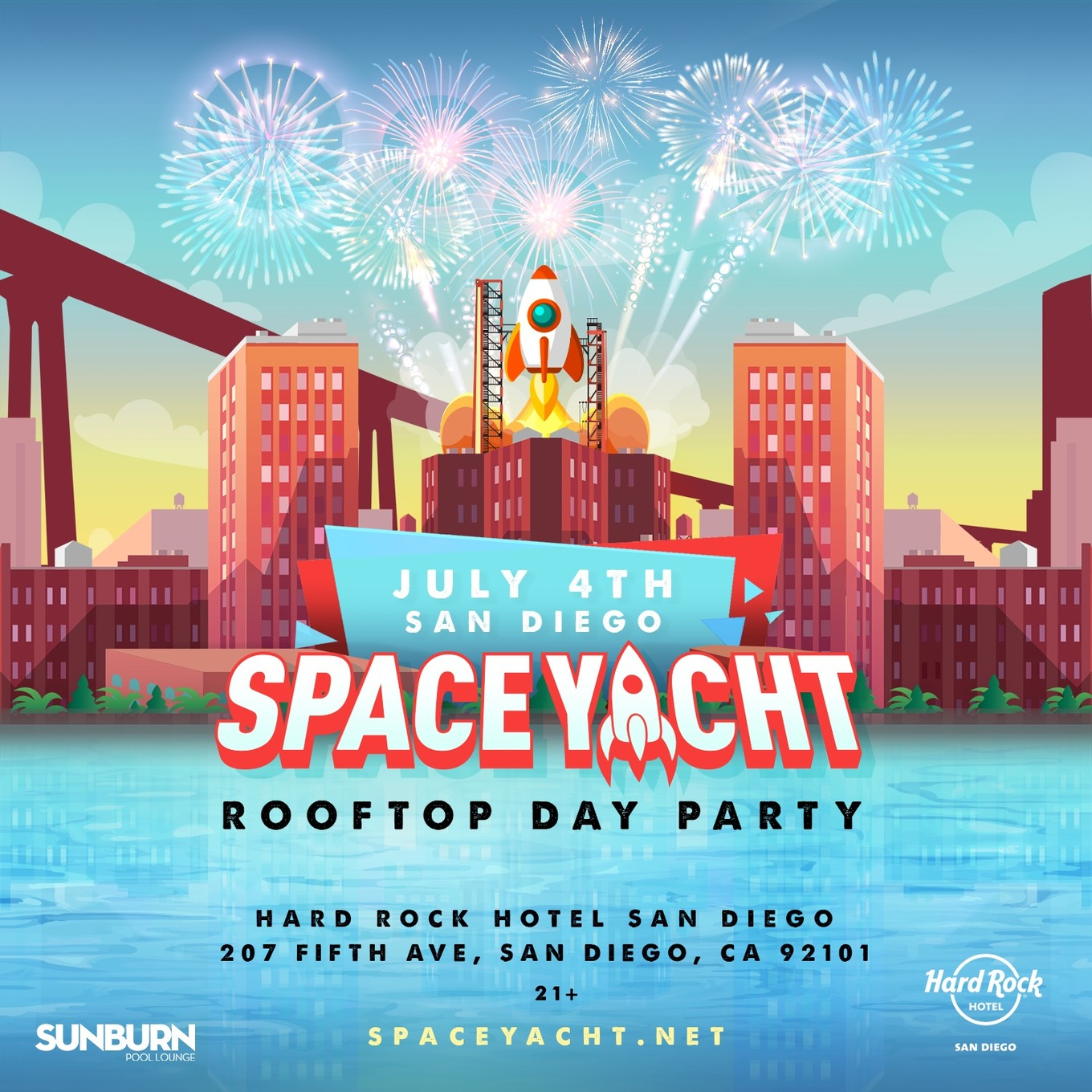 Space Yacht July 4th Rooftop Party Tickets Hard Rock Hotel San