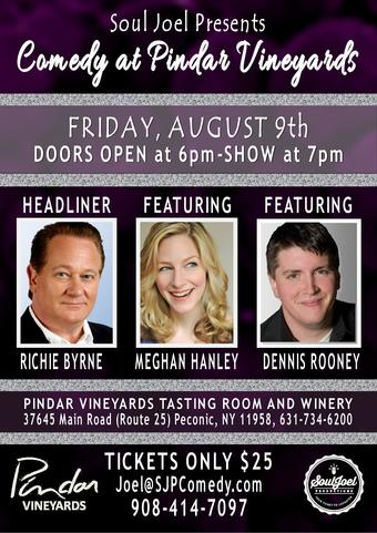 Peconic, NY:  Comedy Night at Pindar Vineyards