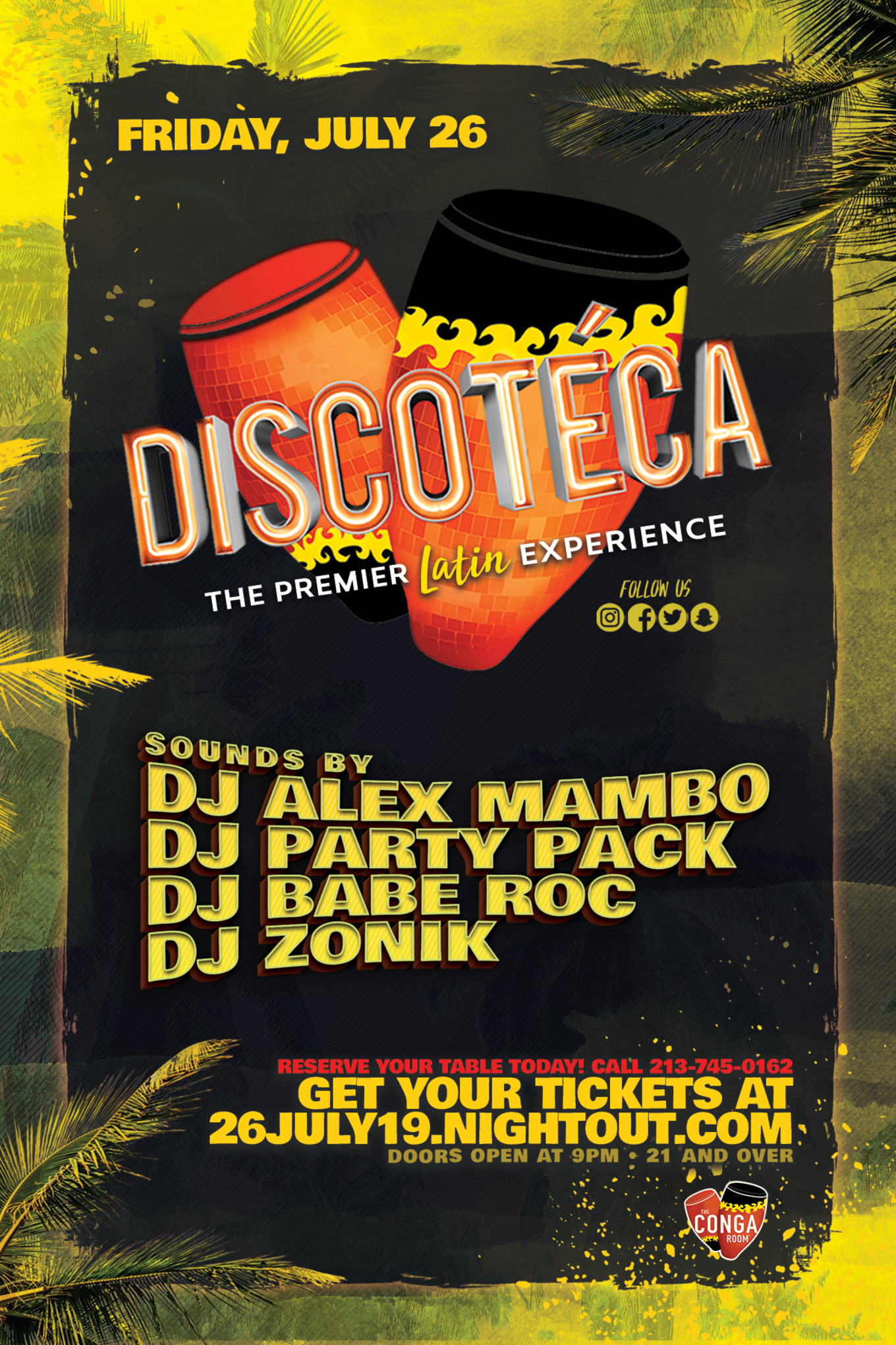 Conga Room presents Discoteca - Tickets - Conga Room , Los