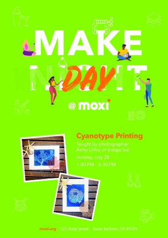 MakeDay@MOXI: Cyanotype Printing