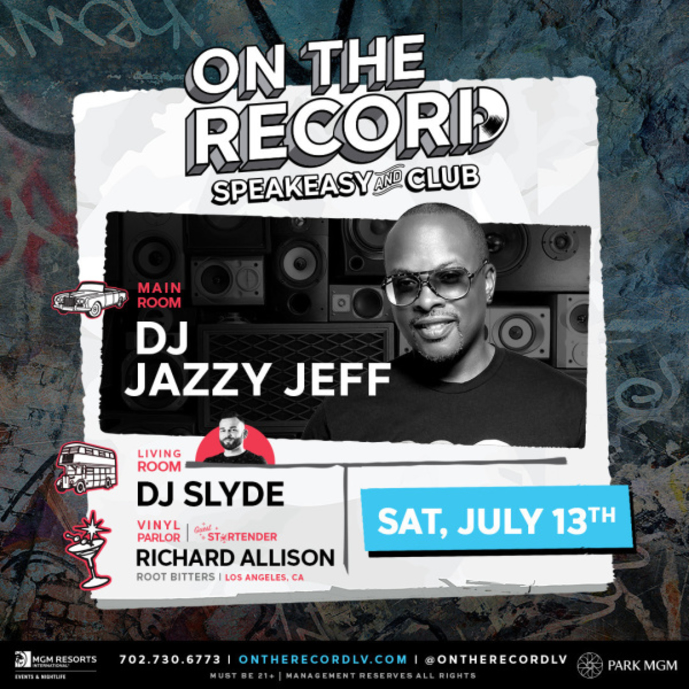 On The Record feat  DJ JAZZY JEFF - Tickets - PARK MGM, Las