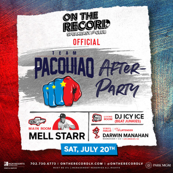 On The Record feat. TEAM PACQUIAO AFTER-PARTY