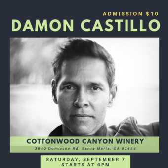 Damon Castillo Band at Cottonwood Canyon Winery!