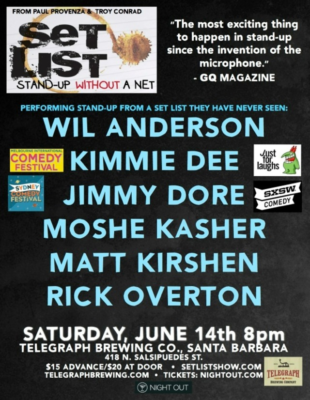 SET LIST Comedy Show w/ Headliner Wil Anderson