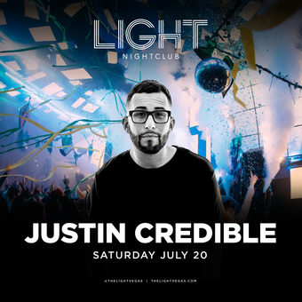 Justin Credible at LIGHT Las Vegas