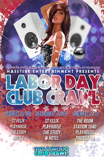 Hollywood Labor Day Bar & Club Crawl - Sunday, Sep 1st