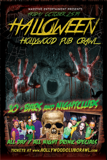 HOLLYWOOD PRE HALLOWEEN PUB CRAWL - OCT 25th