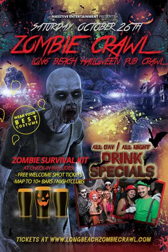 LONG BEACH ZOMBIE CRAWL - Halloween Pub Crawl Oct 26th