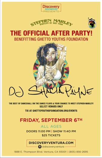 The Official After Party w. DJ Shacia Päyne at Discovery Ventura