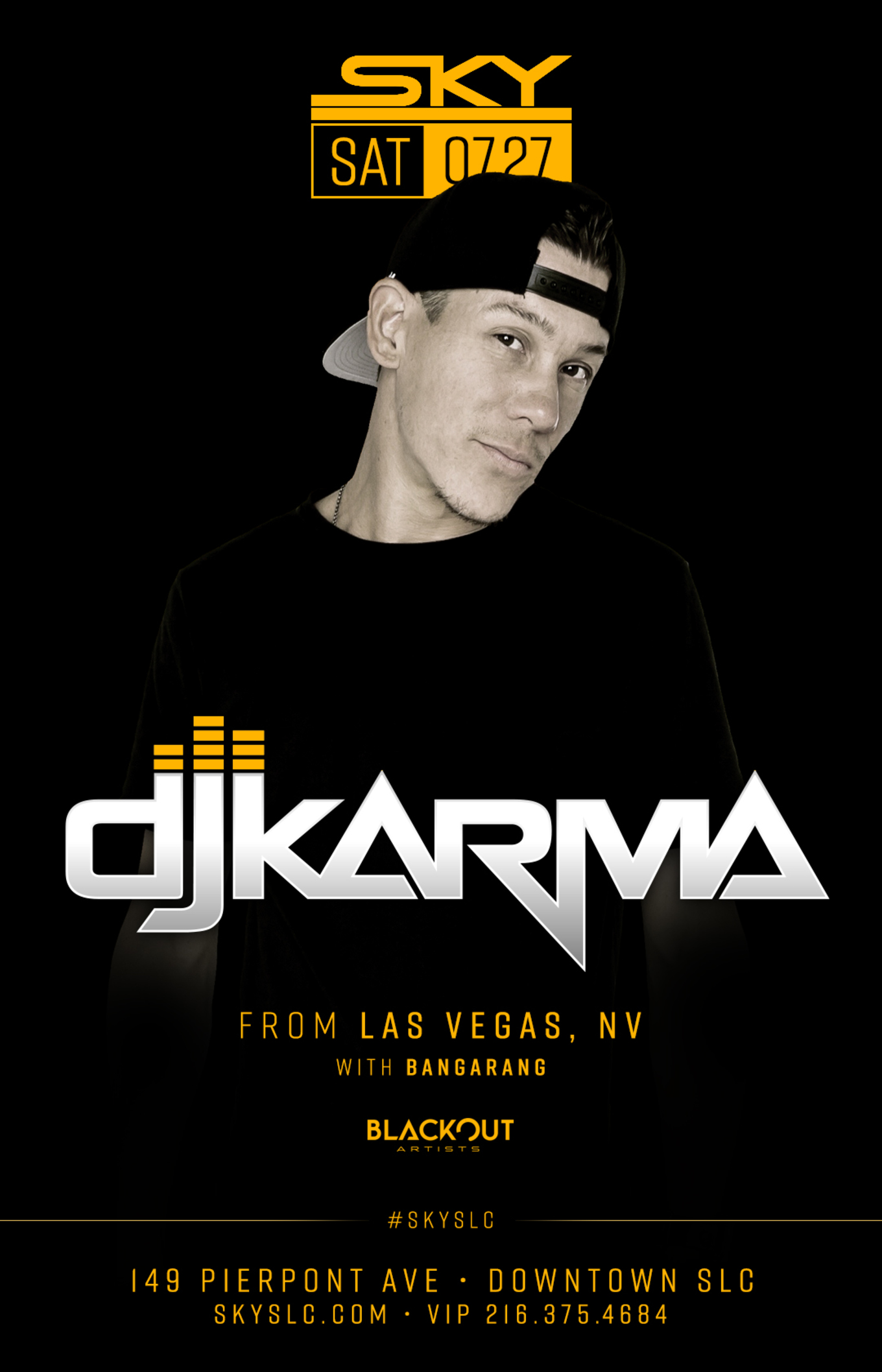 SKY SATURDAYS : DJ KARMA - Tickets - Sky SLC, Salt Lake City, UT