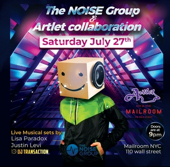NOISE & Artlet Collab at Mailroom NYC