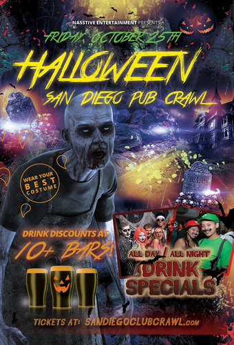 PACIFIC BEACH PRE HALLOWEEN PUB CRAWL