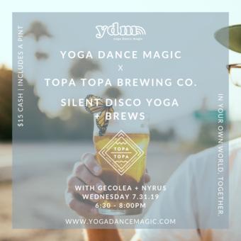 YDM x Topa Topa Brewing Company: Silent Disco Yoga