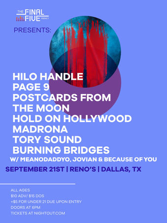Hilo Handle, Page 9, Postcards from the Moon, Hold on Hollywood, Madrona, Tory Sound