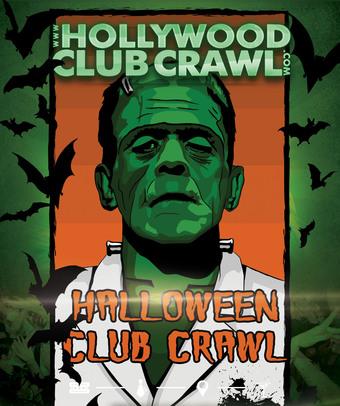 Hollywood Halloween Costumed Club Crawl - Friday Oct 25th