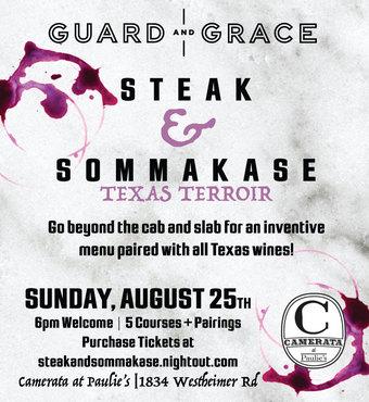 Texas Terroir Steak and Sommakase Dinner