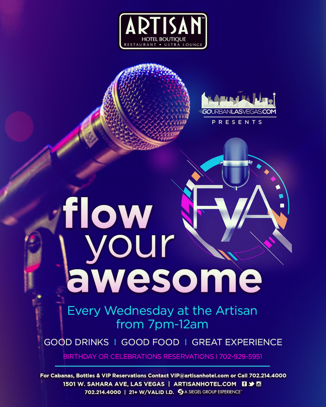 Flow Your Awesome - Tickets - Artisan Hotel Boutique, Las Vegas, NV